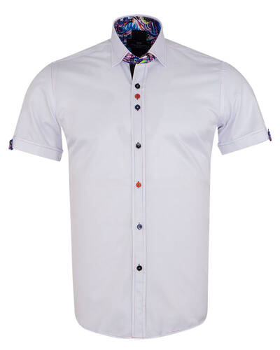 MAKROM - Short Sleeved Mens Shirt With Details SS 7026