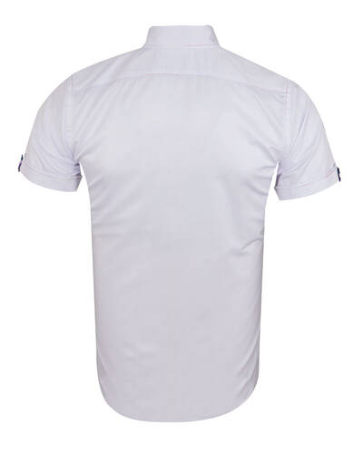 MAKROM - Short Sleeved Mens Shirt With Details SS 7026 (1)