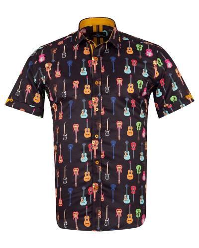 MAKROM - Short Sleeved Printed Men Shirt SS 6649