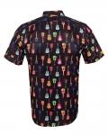 Short Sleeved Printed Men Shirt SS 6649 - Thumbnail