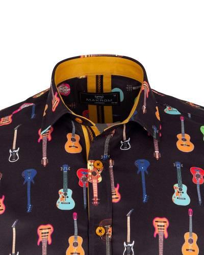 Short Sleeved Printed Men Shirt SS 6649
