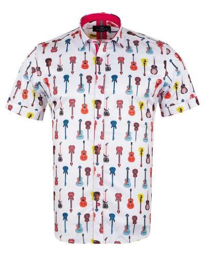 MAKROM - Short Sleeved Printed Men Shirt SS 6649 (Thumbnail - )