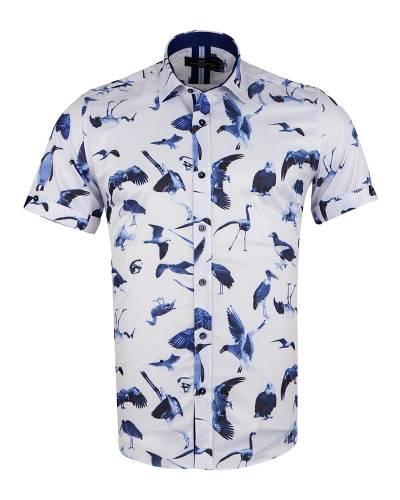 MAKROM - Short Sleeved Printed Men Shirt SS 6650