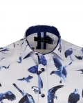 Short Sleeved Printed Men Shirt SS 6650 - Thumbnail