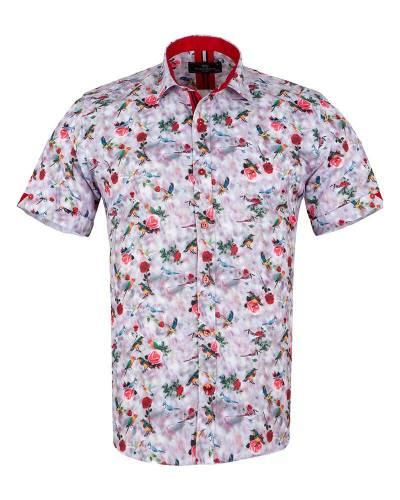 MAKROM - Short Sleeved Printed Men Shirt SS 6651