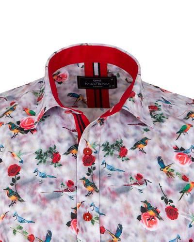 Short Sleeved Printed Men Shirt SS 6651