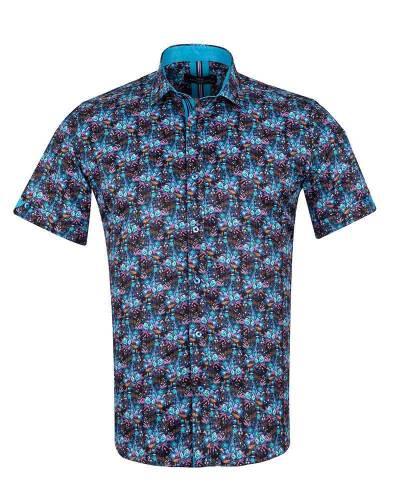 MAKROM - Short Sleeved Printed Men Shirt SS 6652