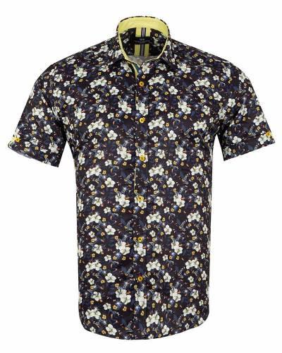 MAKROM - Short Sleeved Printed Men Shirt SS 6653