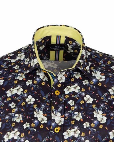 Short Sleeved Printed Men Shirt SS 6653