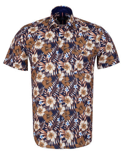 MAKROM - Short Sleeved Printed Mens Shirt SS 7054
