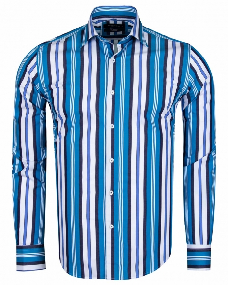 MAKROM - Striped Long Sleeved Shirt SL 5405-A (Thumbnail - )