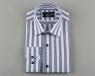Long Sleeved Cotton Striped Shirt 5405 - Thumbnail
