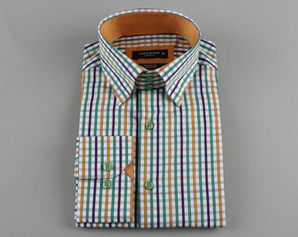 MAKROM - Striped Long Sleeved Shirt SL 5519 (Thumbnail - )