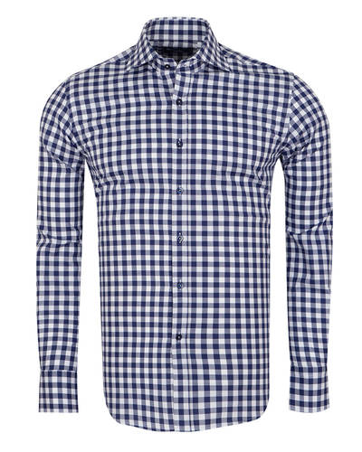Oscar Banks - Oscar Banks Check Classical Long Sleeved Mens Shirt SL 5949