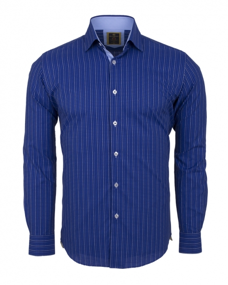 Oscar Banks - Striped Long Sleeved Shirt SL 5973 (Thumbnail - )