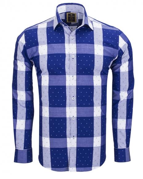 MAKROM - Cotton Checkhered Classical Long Sleeved Shirt SL 5990