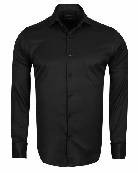 MAKROM - Plain Double Cuff Long sleeved Men Dress Mens Shirt SL 6144