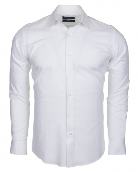 Oscar Banks - Totally Cotton Plain Double Cuff Long sleeved Mens Shirt SL 6197