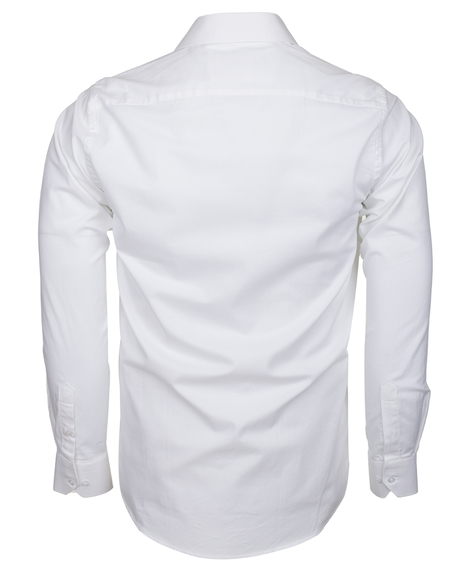 Oscar Banks - Totally Cotton Plain Double Cuff Long sleeved Mens Shirt SL 6197 (1)