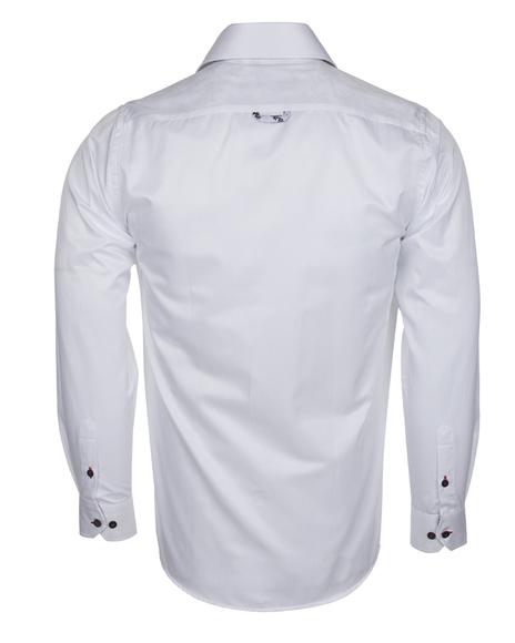 MAKROM - Plain Long Sleeved Shirt with Inside Details SL 6283 (1)