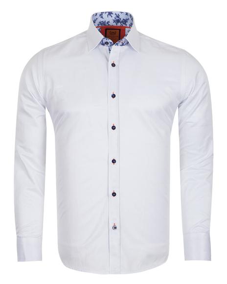MAKROM - Plain Long Sleeved Shirt with Inside Details SL 6283 (Thumbnail - )