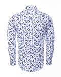Printed Long Sleeved Mens Shirt SL 6304 - Thumbnail