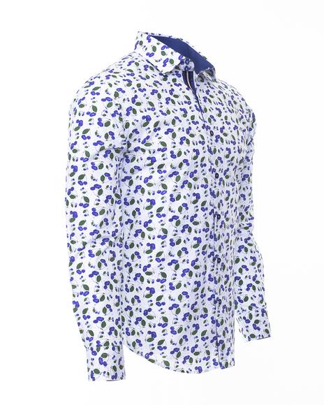 Printed Long Sleeved Mens Shirt SL 6304