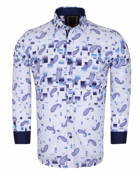 Paisley Printed Long Sleeved Shirt SL 6385