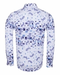 Paisley Printed Long Sleeved Shirt SL 6385 - Thumbnail