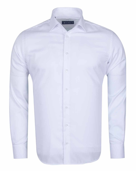 Oscar Banks - Long Sleeved Classical Cotton Mens Shirt SL 6418 (Thumbnail - )