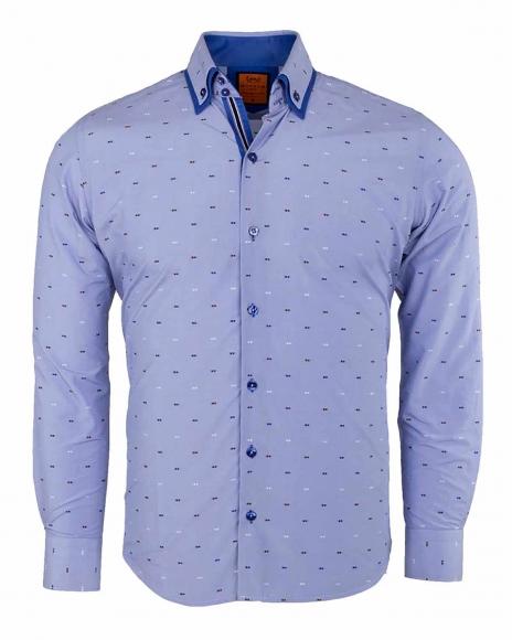 MAKROM - Double Collar Long Sleeved Shirt SL 6496
