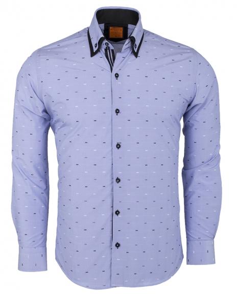 MAKROM - Double Collar Long Sleeved Shirt SL 6496 (Thumbnail - )