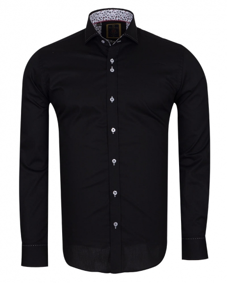 6f416c23 Long Sleeved Mens Shirt With Collar Contrast SL 6556 ...