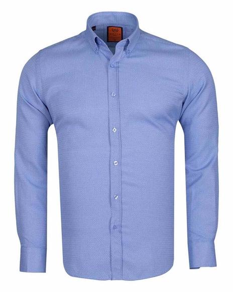MAKROM - MAKROM Mens Textured Long Sleeved Shirt SL 6617