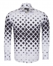 Squares Printed Long Sleeved Mens Shirt SL 6735 - Thumbnail