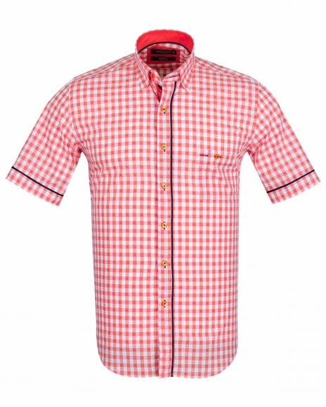 MAKROM - MAKROM Short Sleeved Check Shirt SS 6049 (Thumbnail - )