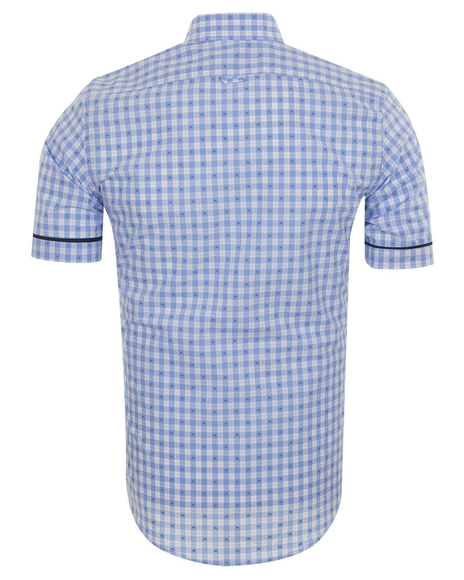MAKROM - MAKROM Short Sleeved Check Shirt SS 6049 (1)