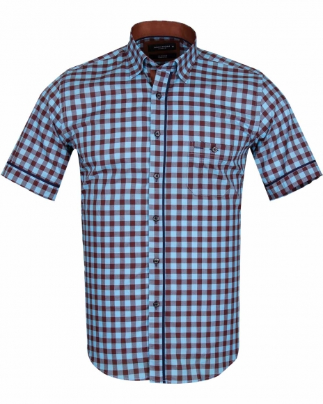 MAKROM - Check Short Sleeved Shirt with Chest Pocket SS 6050