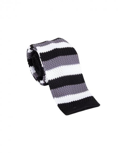 MAKROM - Striped Design Knitted Necktie KR 26