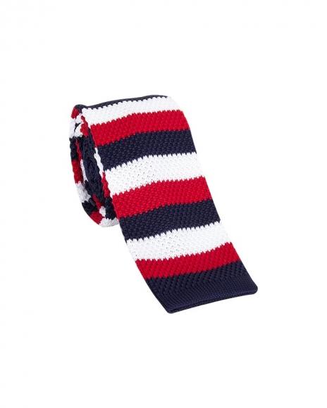 MAKROM - Striped Design Knitted Necktie KR 26 (1)