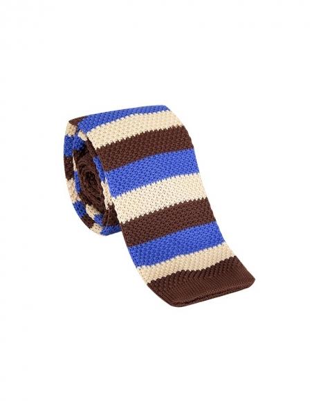 MAKROM - Striped Design Knitted Necktie KR 26 (Thumbnail - )