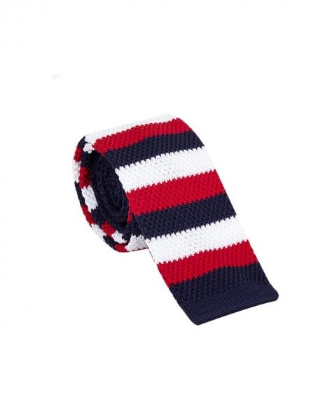 MAKROM - Striped Design Knitted Necktie KR 27