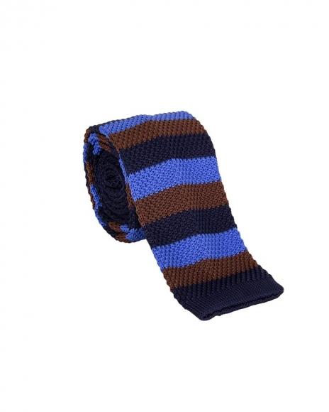MAKROM - Striped Design Knitted Necktie KR 27 (1)