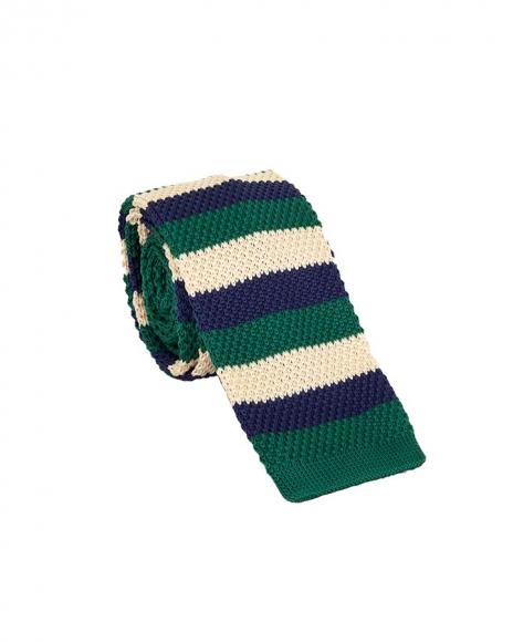 MAKROM - Striped Design Knitted Necktie KR 27 (Thumbnail - )