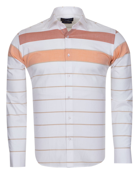 Oscar Banks - Textured Long Sleeved Shirt SL 6765