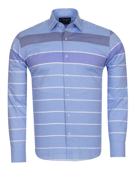 Oscar Banks - Textured Long Sleeved Shirt SL 6765 (Thumbnail - )