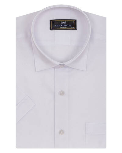 MAKROM - Textured Plain Short Sleeved Shirt SS 7025 (1)