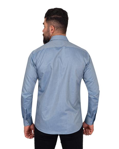 Oscar Banks - Textured Pure Cotton Mens Shirt SL 6921 (1)