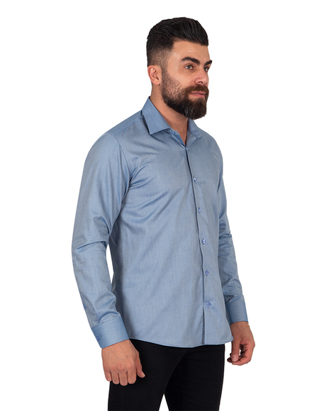Textured Pure Cotton Mens Shirt SL 6921