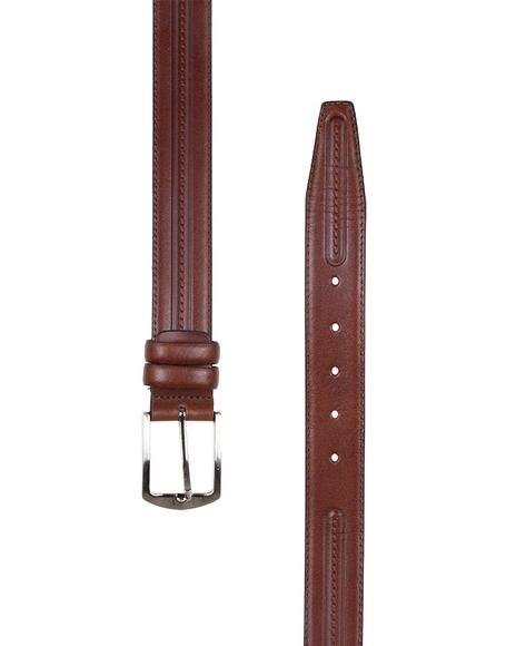 Triple Ply Leather Belt B 18
